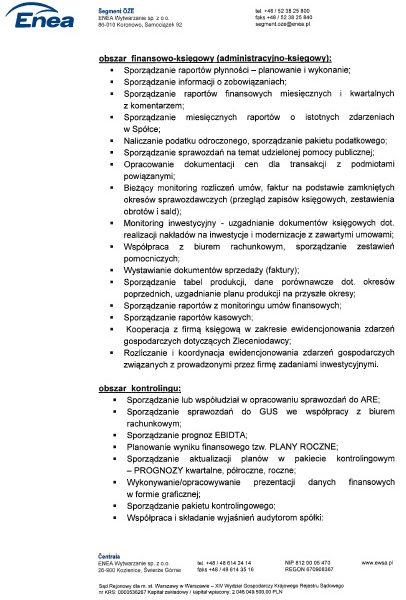 Referencje Biuro Rachunkowe Koszalin - księgowość